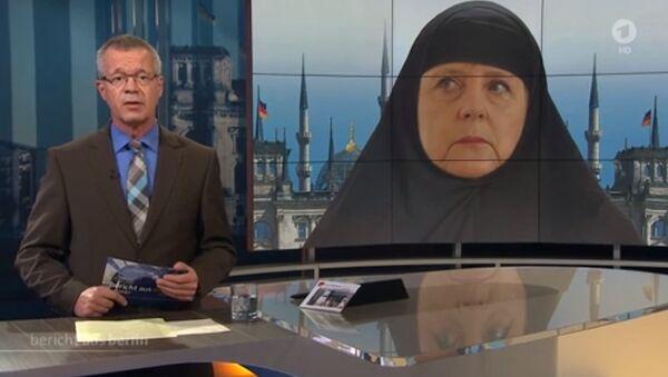 Merkel en burqa - Sputnik France