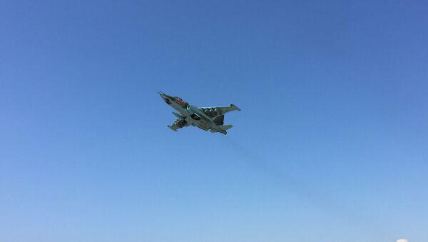 Avion Su-25 de l'Armée de l'air russe en Syrie - Sputnik France