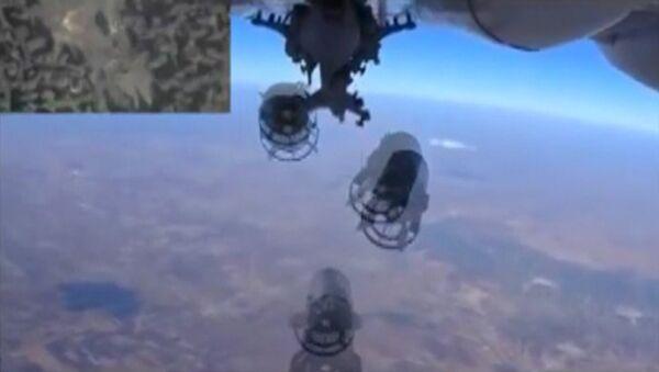 Frappe aérienne. Capture d'écran: ministère russe de la Défense - Sputnik France