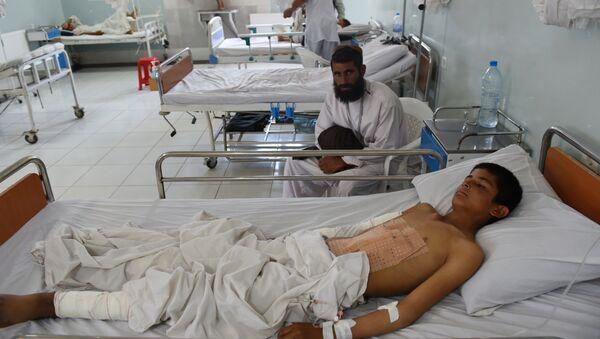 Enfant d'Afghanistan à l'hôpital MSF de Kunduz. Archive photo - Sputnik France