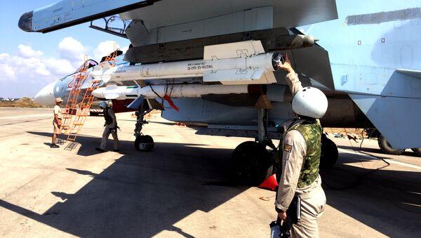 Groupe d'aviation militaire russe à l'aéroport Hmeymim en Syrie - Sputnik France