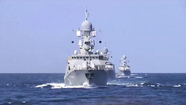Des missiles russes tirés depuis la mer Caspienne frappent les terroristes en Syrie - Sputnik France