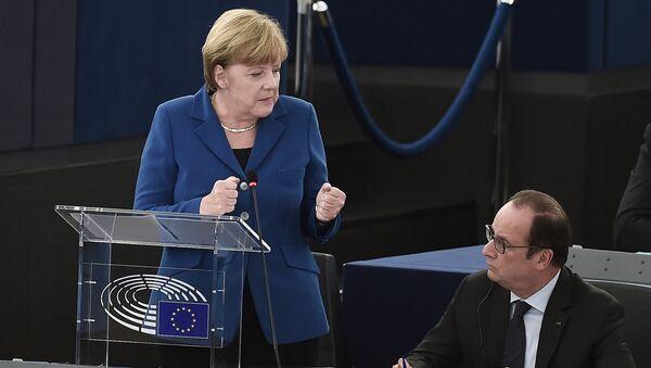 Angela Merkel et François Hollande - Sputnik France