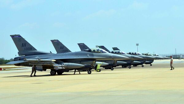 Des chasseurs américains F-16 - Sputnik France