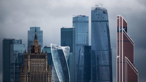 Siège du ministère russe des Affaires étrangères et les gratte-ciel de Moskva-City - Sputnik France