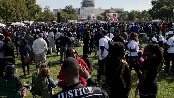 un rassemblement de milliers de Noirs à Washington - Sputnik France