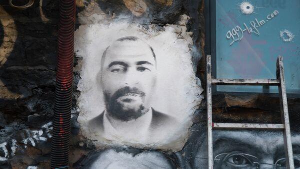Portrait peint d'Abou Bakr al-Baghdadi - Sputnik France