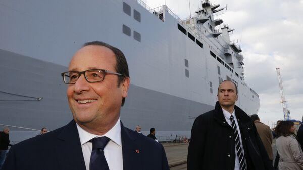 Francois Hollande, Saint-Nazaire, Oct. 13, 2015 - Sputnik France