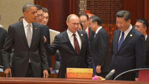 Barack Obama, Vladimir Poutine et Xi Jinping - Sputnik France