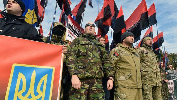Ukraine: les nationalistes manifestent dans la capitale, Oct. 14, 2015 - Sputnik France