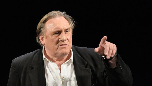 Gérard Depardieu dans la pièce La Musica Deuxième au Théâtre des Variétes de Moscou - Sputnik France