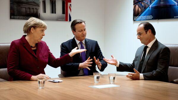 Angela Merkel, David Cameron et François Hollande - Sputnik France