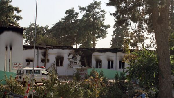 In this Wednesday, Oct. 14, 2015 photo, the charred remains of the Doctors Without Borders hospital is seen after being hit by a U.S. airstrike in Kunduz, Afghanistan. - Sputnik France