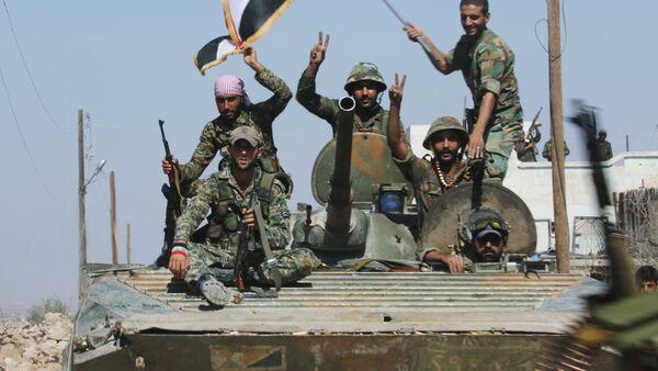 Освобожденный сирийской армией при поддержке российской авиации город Атшан - Sputnik France