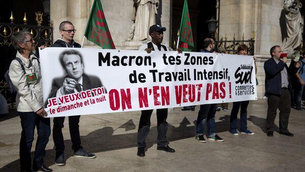 manifestation contre la loi Macron - Sputnik France