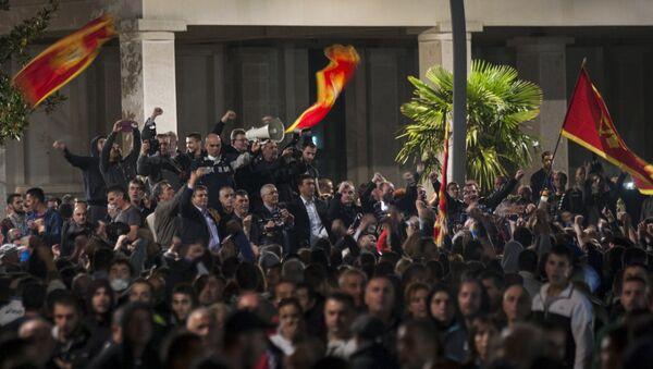 Manifestation antigouvernementale au Monténégro, Oct. 18, 2015. - Sputnik France