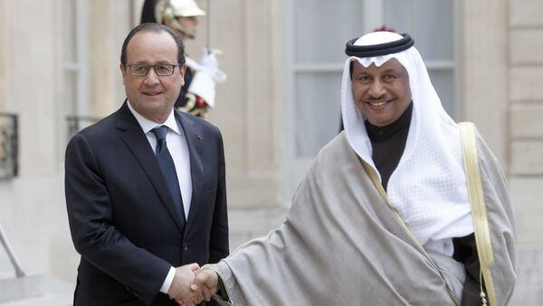 François Hollande et le premier ministre du Koweït Cheikh Jaber Al Moubarak Al Hamad Al Sabah - Sputnik France