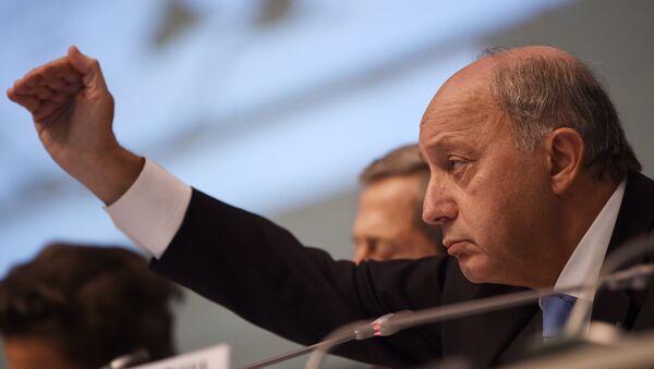 Laurent Fabius à Bonn ,Oct. 20, 2015 - Sputnik France