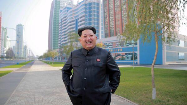 Le dirigeant nord-coréen Kim Jong-un inspecte le rue de Mirae - Sputnik France