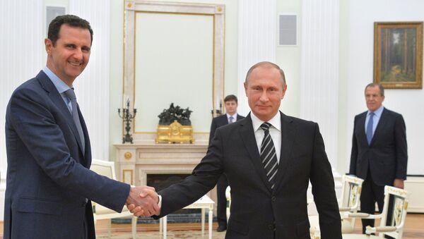 Bachar el-Assad et Vladimir Poutine au Kremlin - Sputnik France