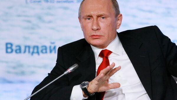 Vladimir Poutine lors d'une réunion du club de discussion Valdaï - Sputnik France