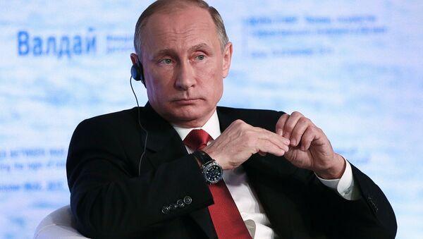 Vladimir Poutine lors de la 12e réunion du club de discussion international Valdaï - Sputnik France