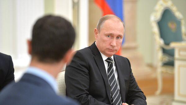 Президент России В.Путин встретился с президентом Сирии Б.Асадом - Sputnik France