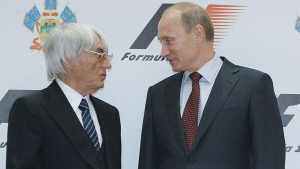 Bernie Ecclestone et Vladimir Poutine (Archives) - Sputnik France