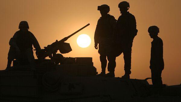 Американские военные на танке - Sputnik France