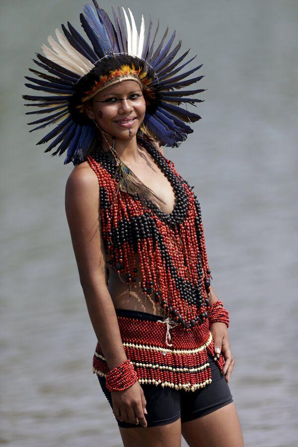 Les magnifiques aborigènes aux Jeux mondiaux des peuples autochtones du Brésil - Sputnik France