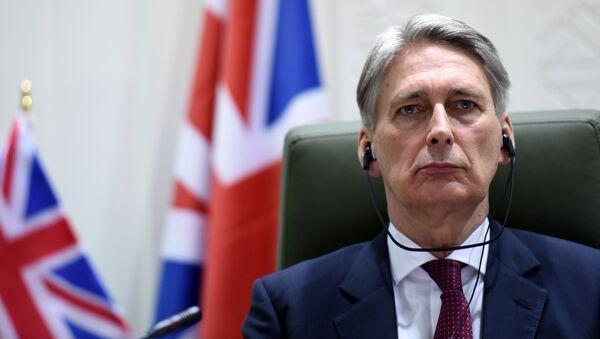 Le ministre britannique des Affaires étrangères Philip Hammond - Sputnik France