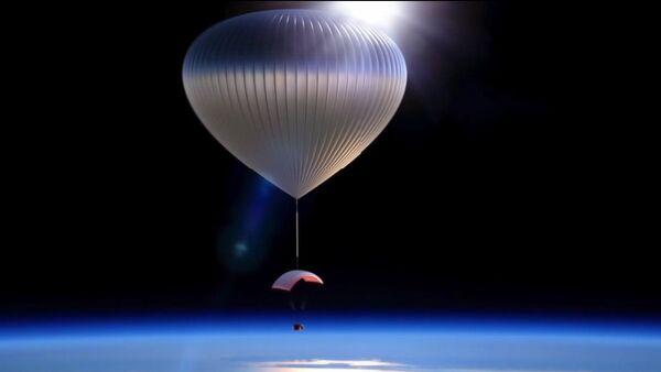 Une capsule spéciale transportée par un aérostat - Sputnik France