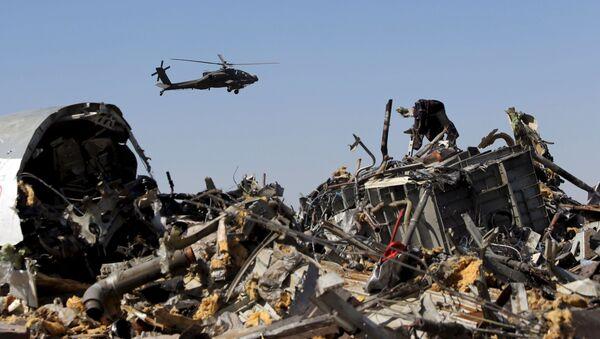 Des enquêteurs militaires russes vérifient des débris de l`avion A321, Egypte, Novembre 1, 2015 - Sputnik France