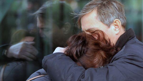 Les proches des victimes de la catastrophe aérienne A-321 - Sputnik France