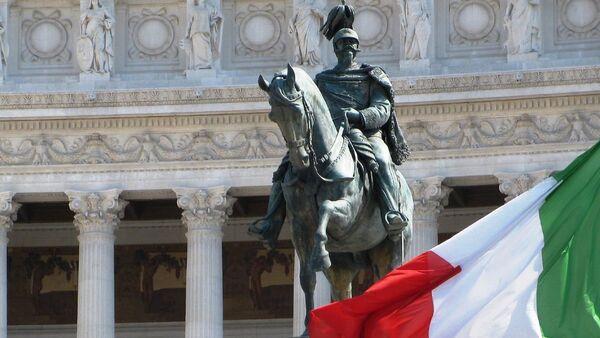 Drapeau de l'Italie à Rome - Sputnik France