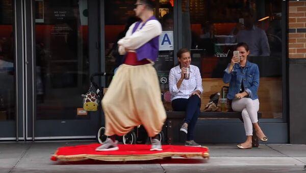 Aladin fait le tour de New York sur un tapis volant - Sputnik France