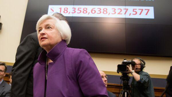 Глава Федеральной резервной системы США Джанет Йеллен в Вашингтоне - Sputnik France