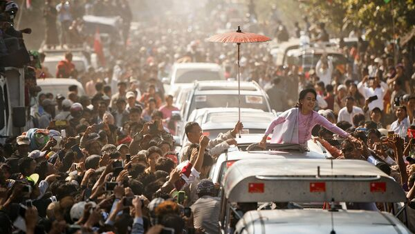 Aung San Suu Kyi, leader du parti d'opposition Ligue nationale pour la démocratie (LND) - Sputnik France