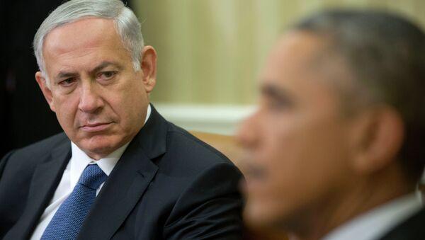 Le Premier ministre israélien Benjamin Netanyahu à l'écoute que le président Barack Obama - Sputnik France