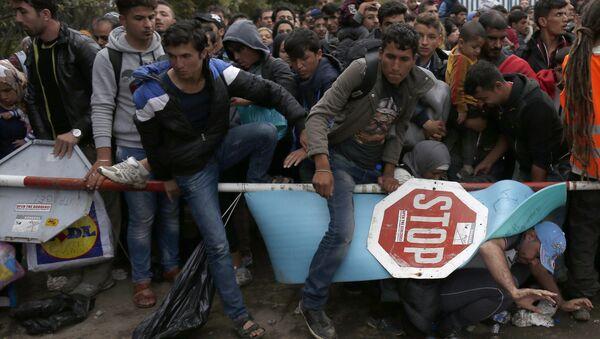 Des migrants passent la frontière entre la Serbie et la Croatie - Sputnik France