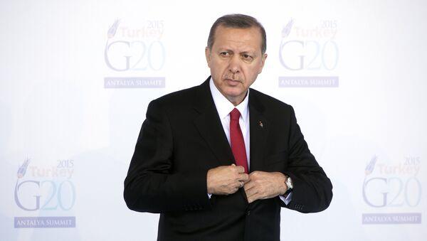 Le président turc Recep Tayyip Erdogan ouvre le sommet du G20 à Antalya, dimanche 15 novembre 2015 - Sputnik France