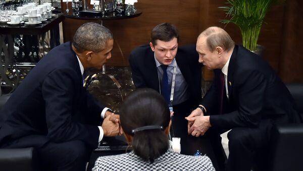 Entretien imprévue entre Vladimir Poutine et Barack Obama au sommet G20 - Sputnik France