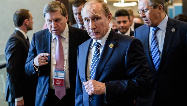 Vladimir Poutine arrive à Antalya pour le sommet du G20 - Sputnik France