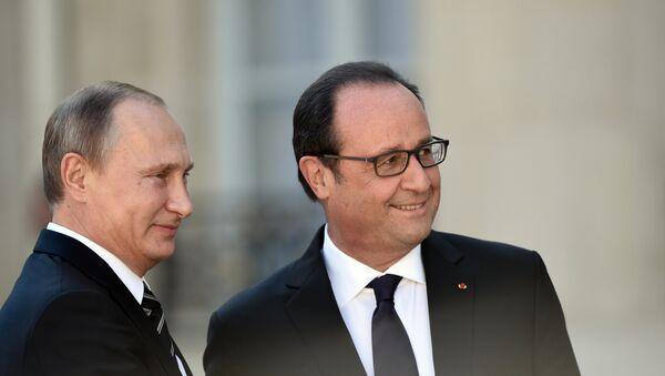 Vladimir Poutine et François Hollande - Sputnik France