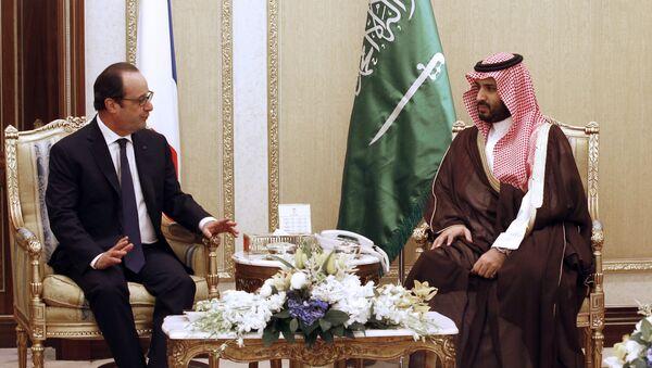 François Hollande et Mohammed ben Salmane Al Saoud. Archive photo - Sputnik France