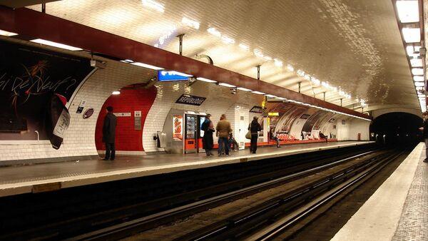 Métro de Paris (France) - ligne 11 - Station République. Archive photo - Sputnik France