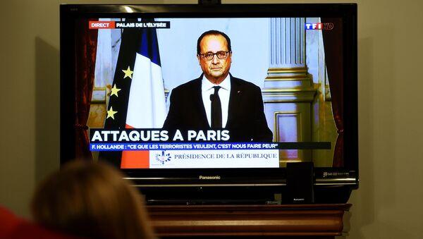 François Hollande s'adresse à la nation le 13 novembre 2015 - Sputnik France