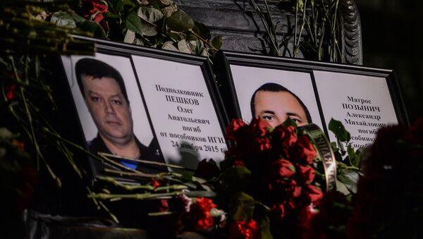 La tragédie qui s'en est suivi avec la mort d'un des deux pilotes de l'avion, le colonel Oleg Pechkov et la marine Alexandre Pozynitch, a choqué grand nombre de personnes - Sputnik France