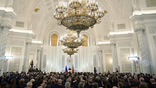 le président russe Vladimir Poutine devant l'Assemblée fédérale du pays - Sputnik France