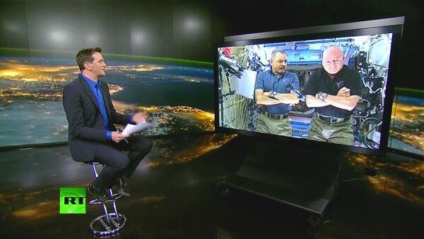 Mikhaïl Kornienko et Scott Kelly, actuellement en mission à bord de la Station spatiale internationale (ISS) - Sputnik France